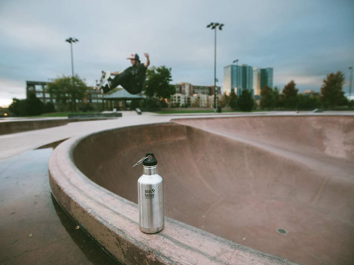 Klean Kanteen skateboard