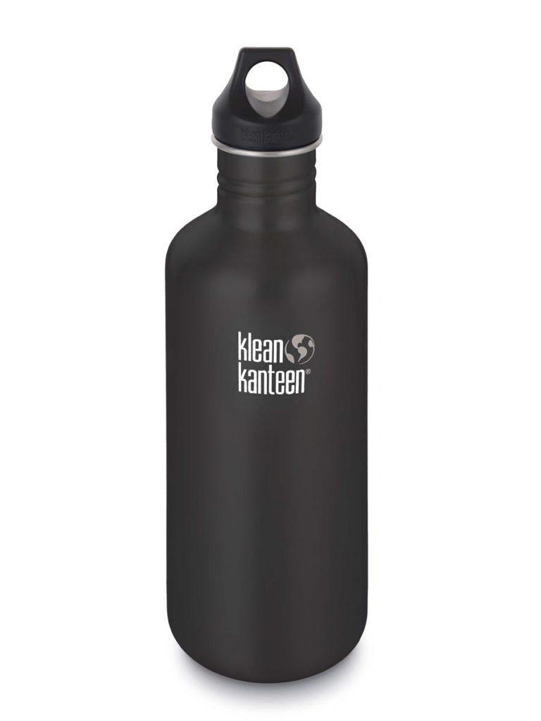 Klean Kanteen Classic Steel Water Bottle 1182ML Black