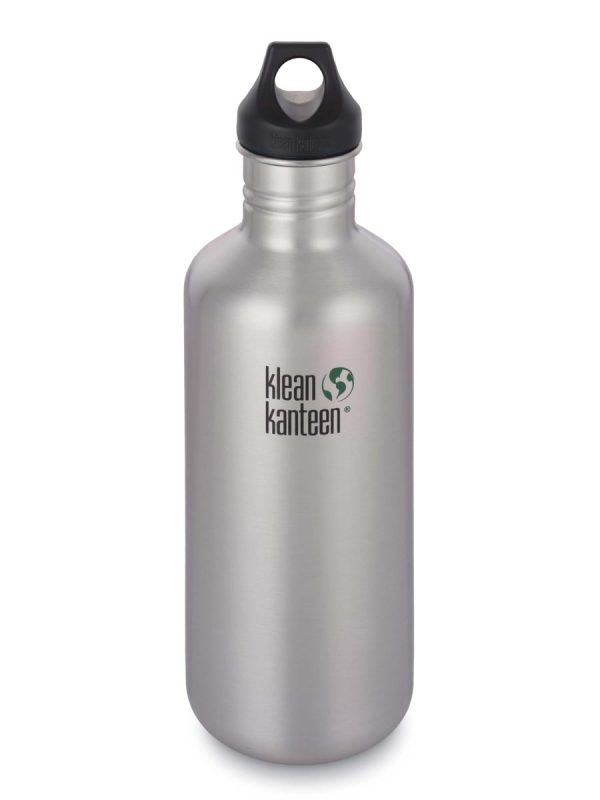 Klean Kanteen Classic Steel Water Bottle 1182ML Silver