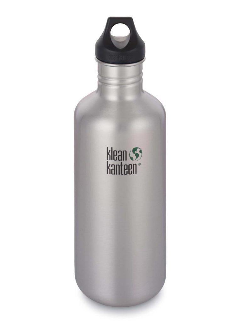 Klean Kanteen Classic Steel Water Bottle 1182ML Silver