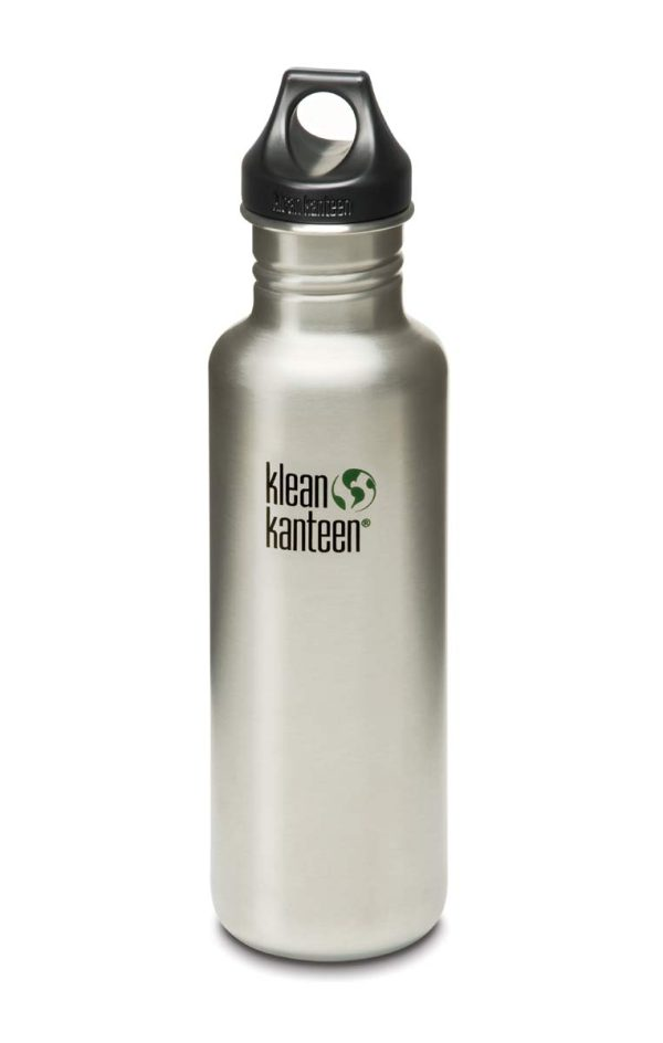 Klean Kanteen Classic Water Bottle 20oz 800ml Silver