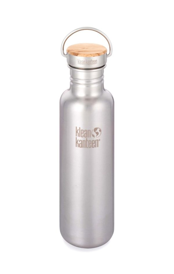 Klean Kanteen Reflect Water Bottle 800ml 27oz Brushed Stainless Steel