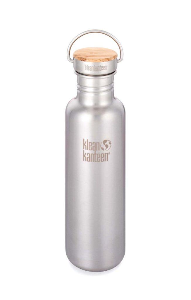 Klean Kanteen Reflect Water Bottle 800ml 27oz Brushed Stainless Steel