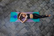 Yoga Design Lab Collage Green Travel Yoga Mat Model