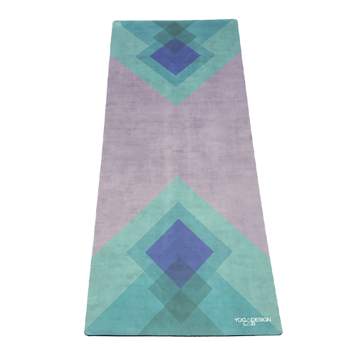 Yoga Design Lab Collage Green Travel Yoga Mat