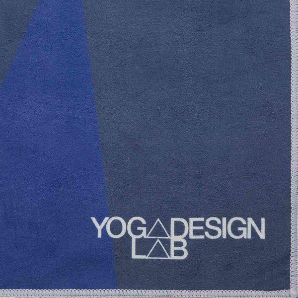 Yoga Design Labs Hot Yoga Towel Geo Blue Font