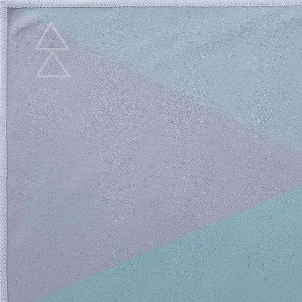 Yoga Design Labs Hot Yoga Towel Geo Blue Logo