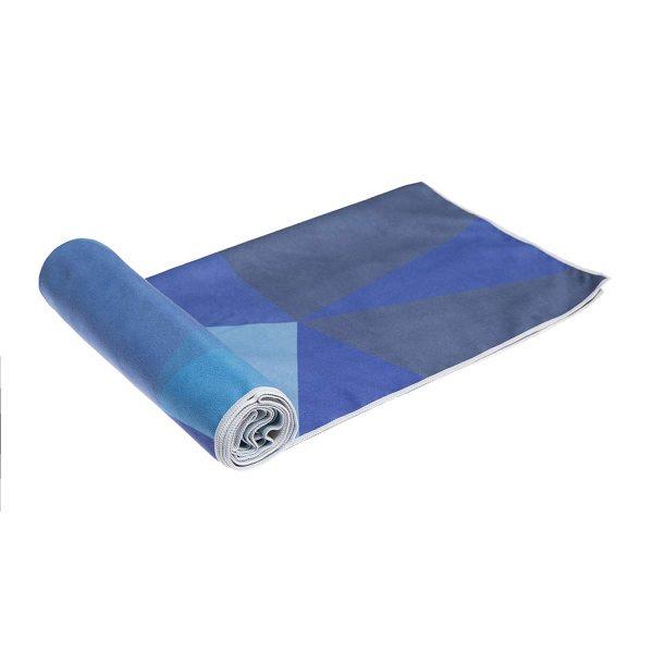 Yoga Design Labs Hot Yoga Towel Geo Blue Roll