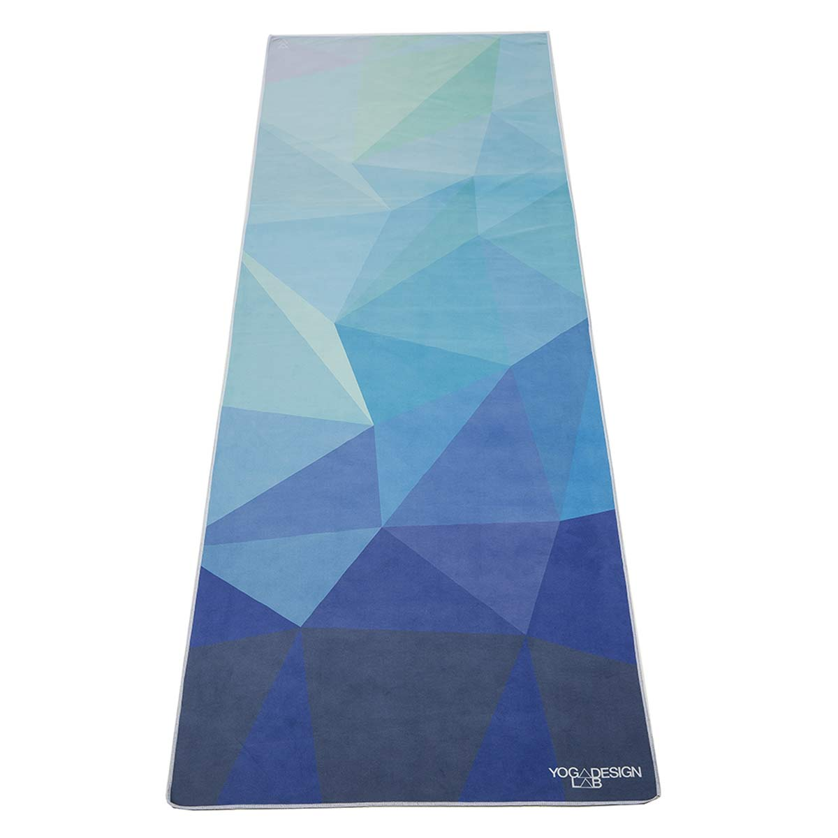 Yoga Towel Uk: Geo Blue Micro Fibre Hot Yoga Towel