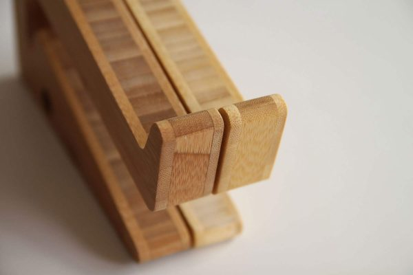 Ergonomic Bamboo Wooden Laptop Stand - 2 colours