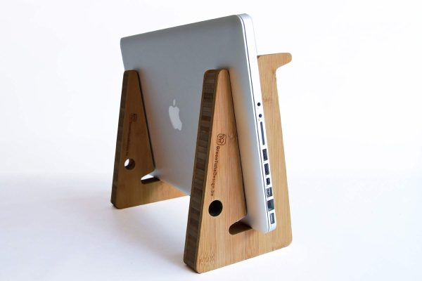 Ergonomic Bamboo Wooden Laptop Stand - Carmel Close