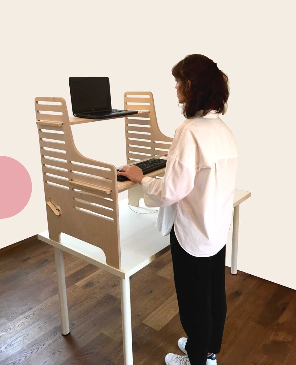 Standing Desk For Laptop Lap Desk Pillow