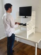 Dogs Bone Standing Desk White - Supawell
