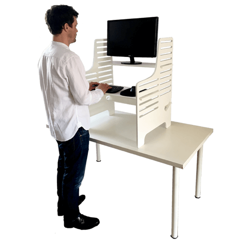 Dogs Bone Standing Desk - White