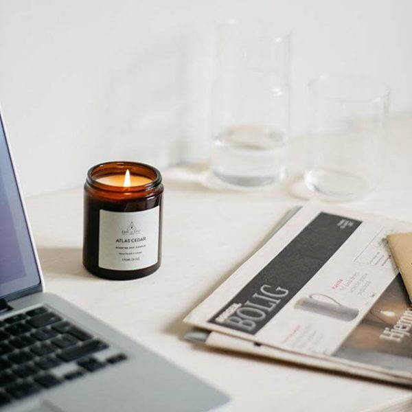 Atlas Cedar Scented Desk Candle - Earl of East London