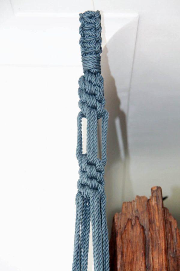 Chunky Macrame Planter Hanger - knot