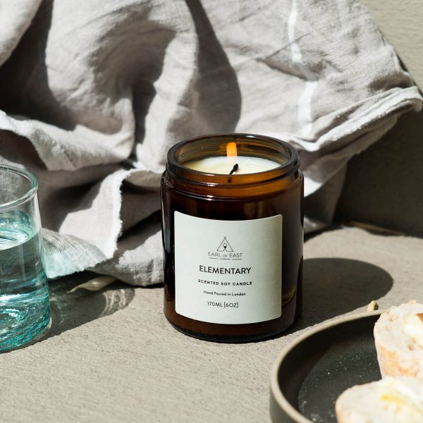 Elementary Scented Candle Lit - Earl of East London