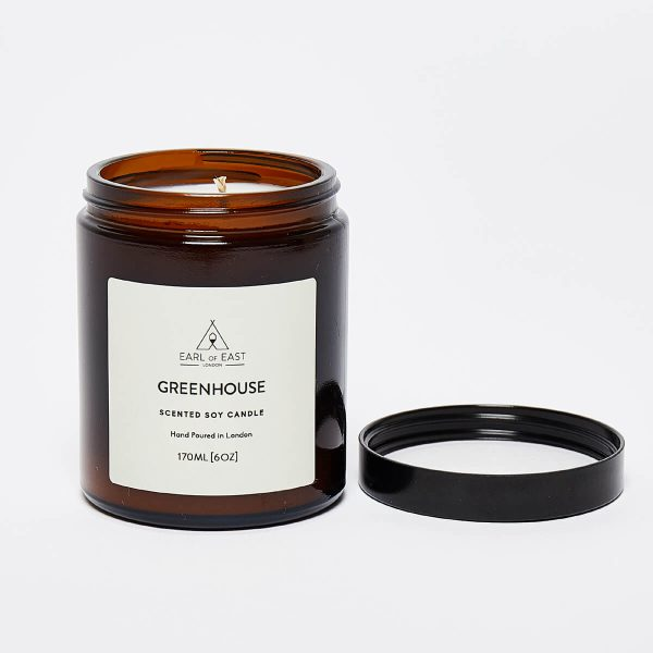 Greenhouse Scented Candle - lid open - Earl of East London