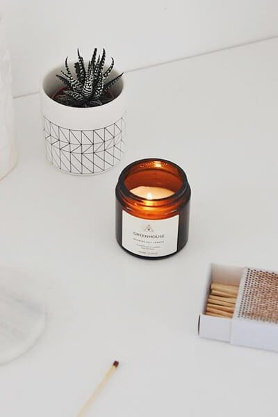 Greenhouse Scented Candle - white - Earl of East London