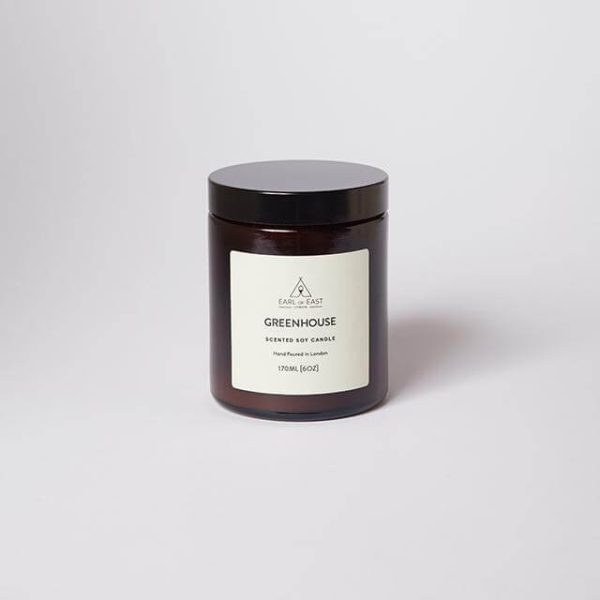 Greenhouse Scented Candle with Lid- Earl of East London