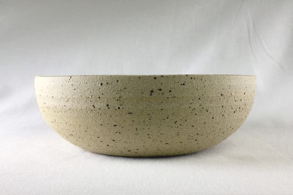 Large Speck Bowl Half Glazed - Artisan Ceramics - Ned Davies Ceramics