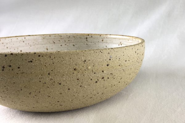 Large Speck Bowl Half Glazed - Handmade - Ned Davies Ceramics