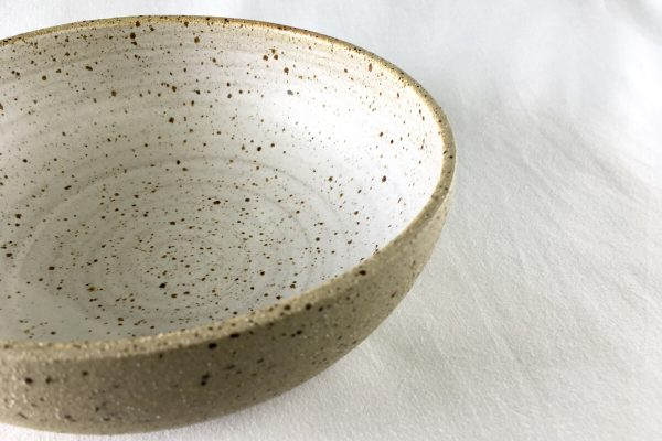 Large Speck Bowl Half Glazed - Made in London - Ned Davies Ceramics