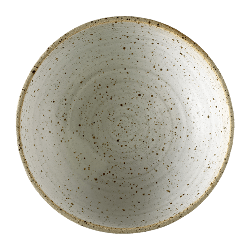 Large Speck Bowl Half Glazed - Ned Davies Ceramics