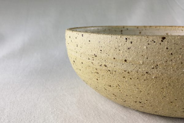 Large Speck Bowl Half Glazed - hand made - Ned Davies Ceramics