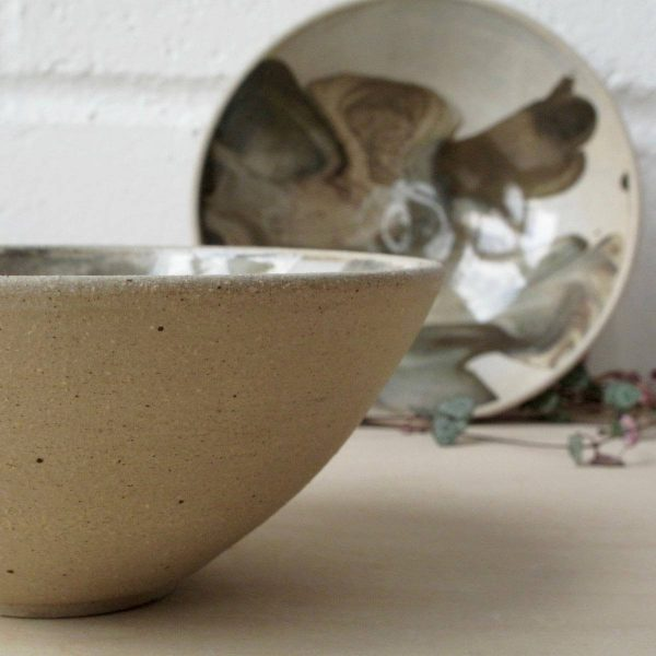 Marbled Bowl - Wheel Thrown - breakfast - Bisila Noha Ceramics
