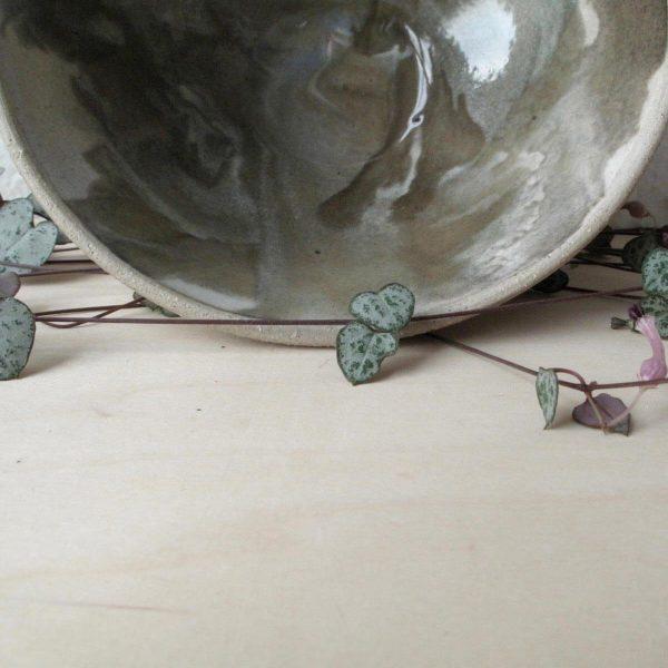 Marbled Bowl - Wheel Thrown - dinner - Bisila Noha Ceramics