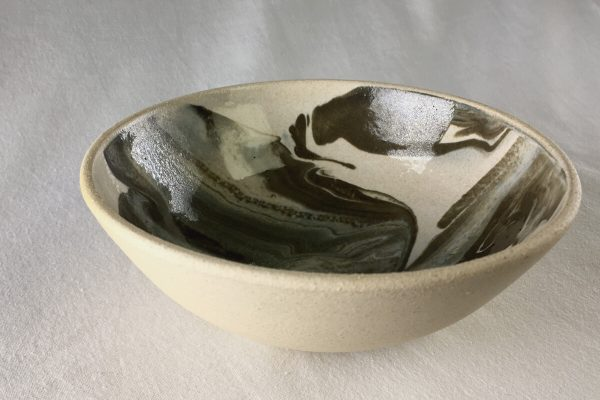Marbled Bowl - hand made - Bisila Noha Ceramics