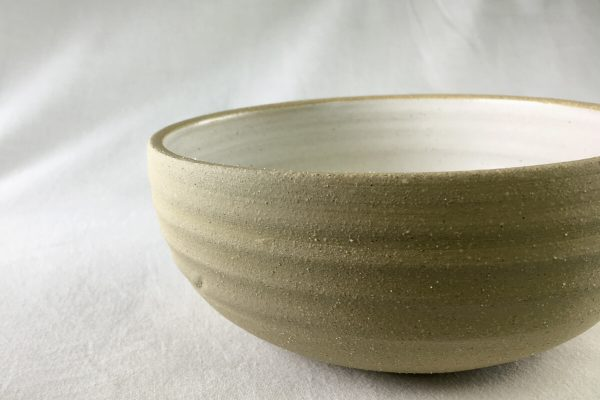 Medium White Sprial Bowl - Artisan Ceramics - Ned Davies Ceramics