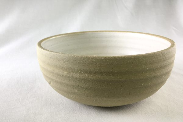 Medium White Sprial Bowl - Made in the UK - Ned Davies Ceramics