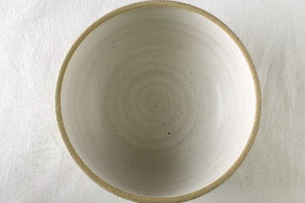 Medium White Sprial Bowl - Wheel Thrown - Ned Davies Ceramics