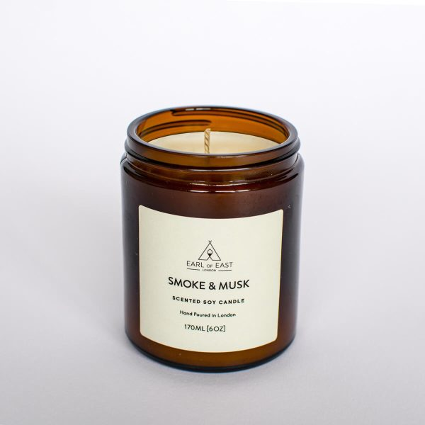 Smoke and Musk Scented Candle - Earl of East London