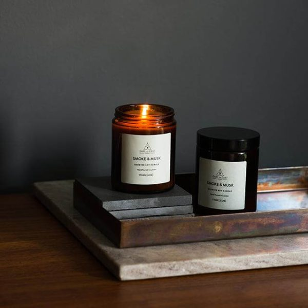 Smoke and Musk Scented Candle - Table - Earl of East London