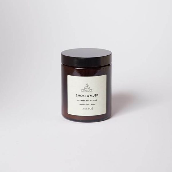 Smoke and Musk Scented Candle - with Lid - Earl of East London