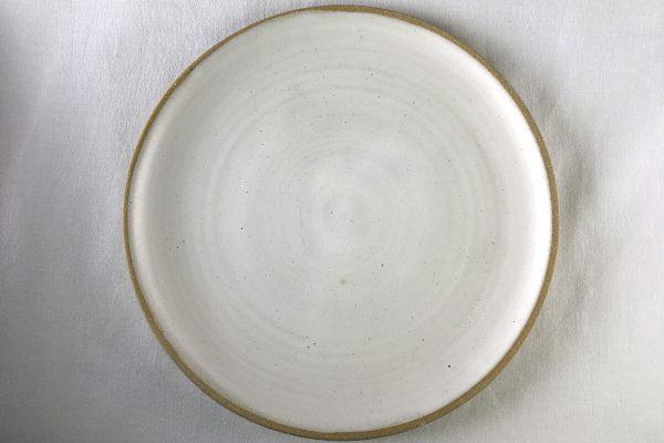 Spiral White Dinner Plate - Ned Davies Ceramics