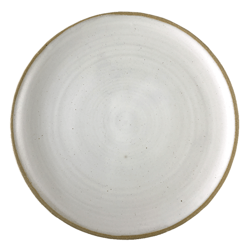 Spiral White Dinner Plate - Ned Davies Ceramics