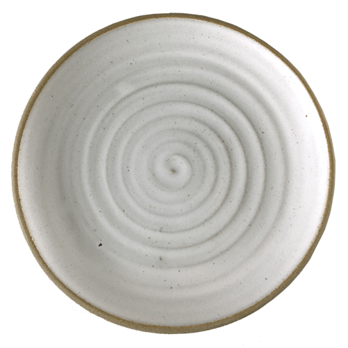 Spiral White Side Plate - Ned Davies Ceramics