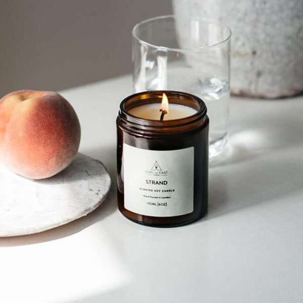 Strand Scented Candle - Peach - Earl of East London