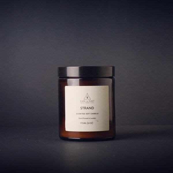 Strand Scented Candle - charcoal -Earl of East London