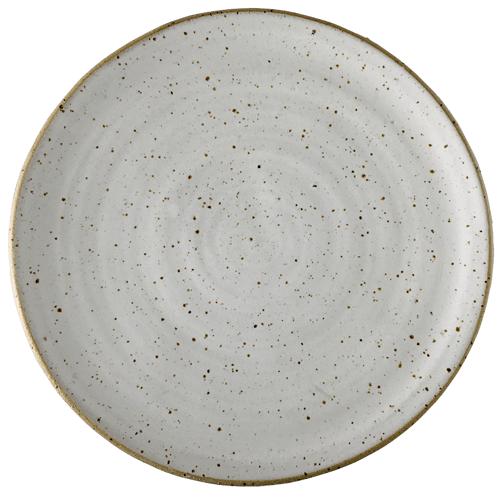 White Speck Dinner Plate - Ned Davies Ceramics