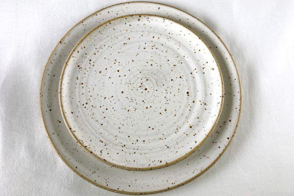 White Speck Plates - Ned Davies Ceramics