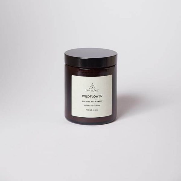 Wildflower Scented Candle - with lid - Earl of East London