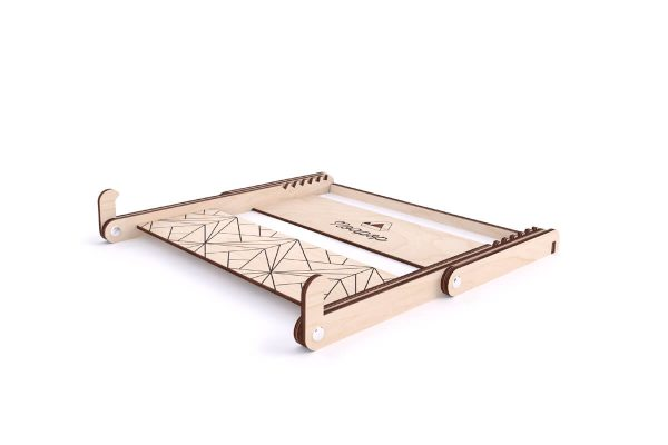 Adjustable Wooden Laptop Stand - Down - Noapop