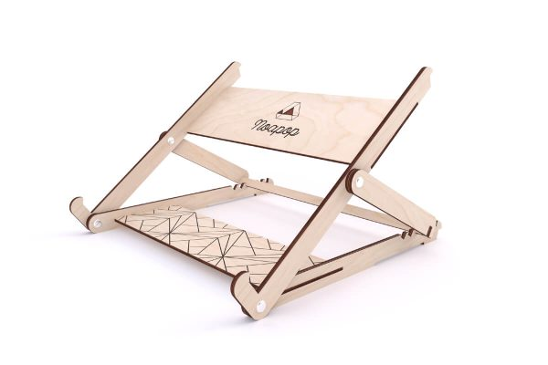 Adjustable Wooden Laptop Stand - Highest - Noapop