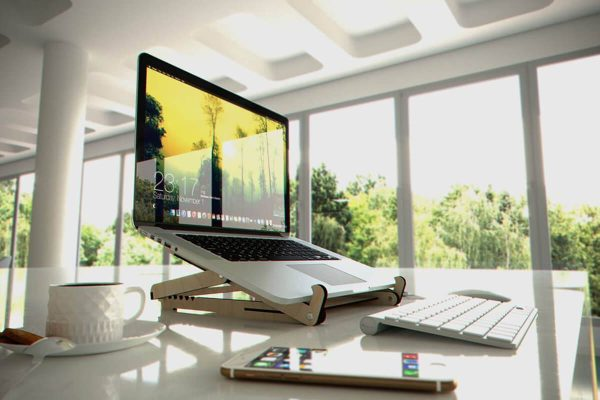 Adjustable Wooden Laptop Stand - Office - Noapop