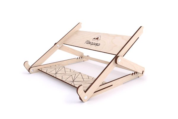 Adjustable Wooden Laptop Stand - Up - Noapop